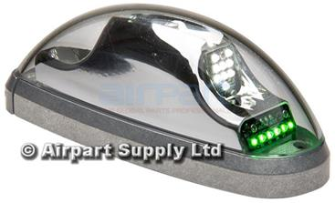 01-0771733-01 Wingtip PTA Green, 12v LED Orion 600