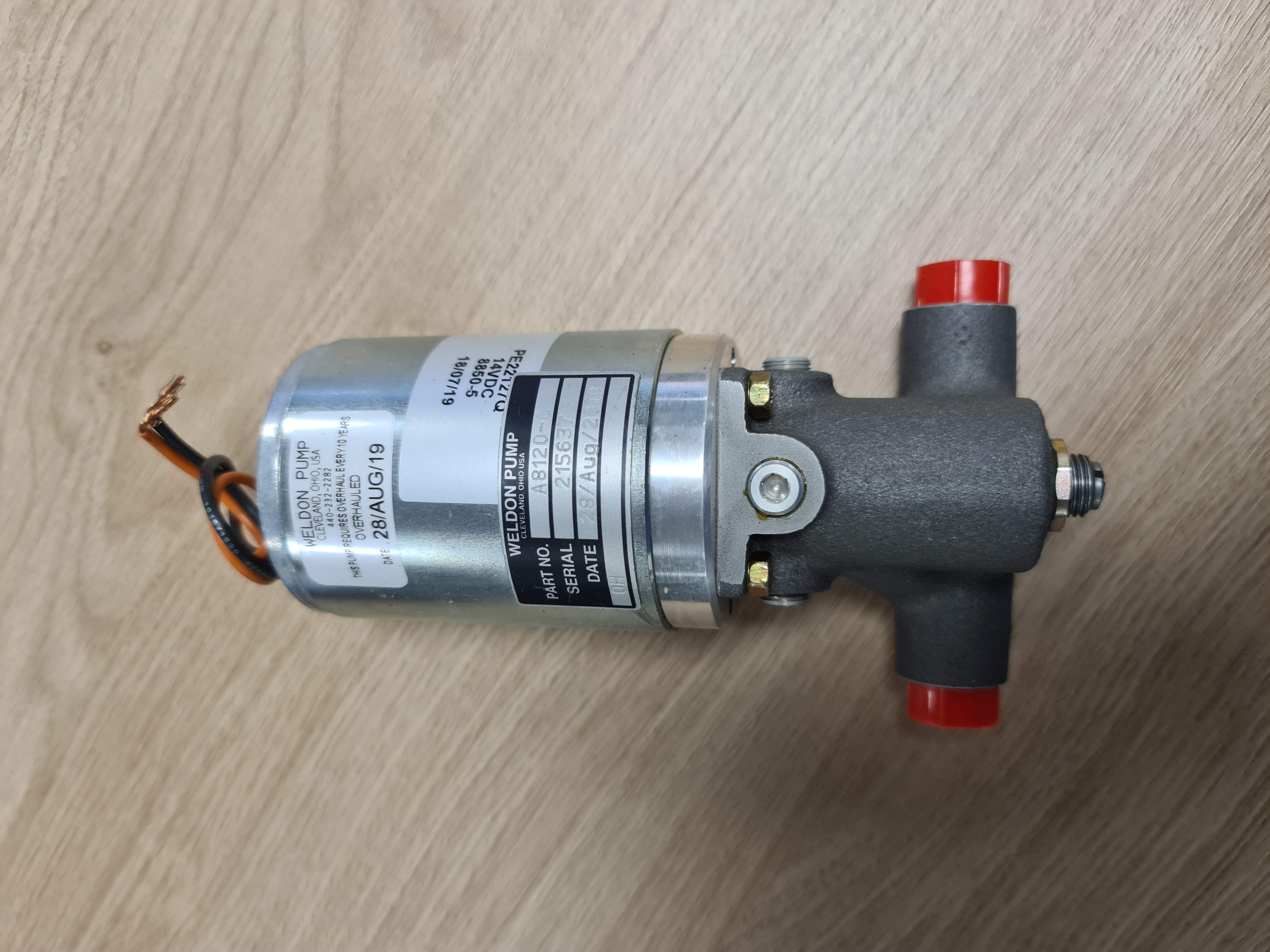 A8120-C/OH Main Aux Pump