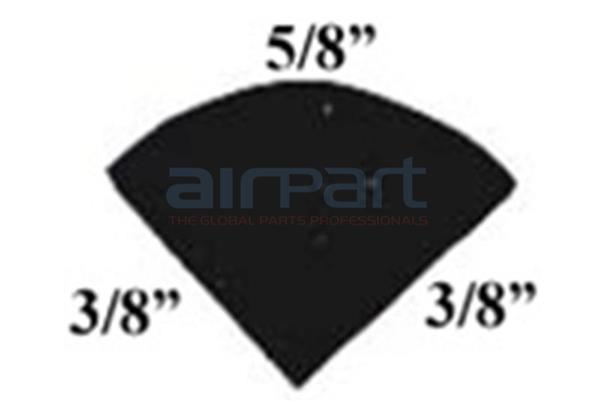 BA-19100 Quarter Round Door Seal (Per Ft)