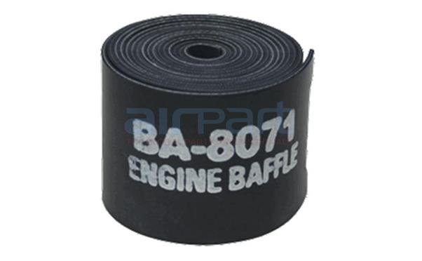 BA-8071-1-3 3/32 In x 3 In x 9 Ft Sil Eng Baffle Black (Roll)
