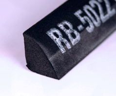 RB-5022 Solid 1/4 Round Door Seal (Priced Per Ft)